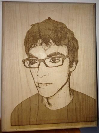 laserski gravirani portret
