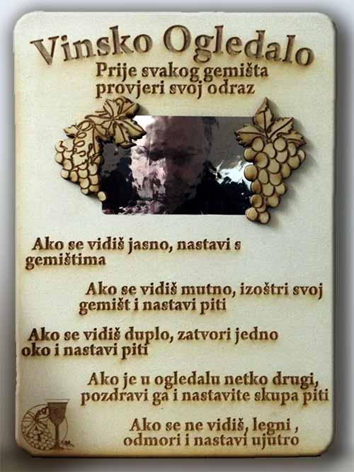 vinsko ogledalo, poklon vinogradarima